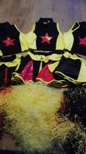 3 cheerleaderjurkjes