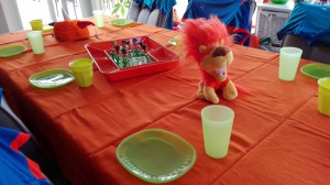 tafel voetbalfeest
