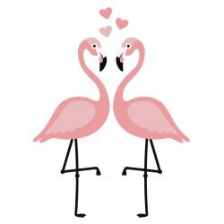 muursticker-flamingo-s