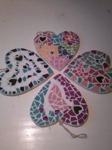kinderfeestje mozaieken hartjes (2)