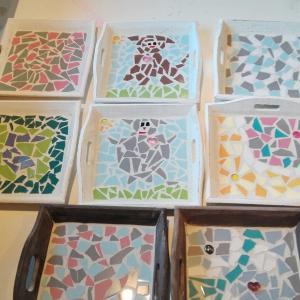 voorbeelden dienblaadjes mozaieken kinderfeestje (50)