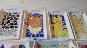 voorbeelden dienblaadjes mozaieken kinderfeestje (7)
