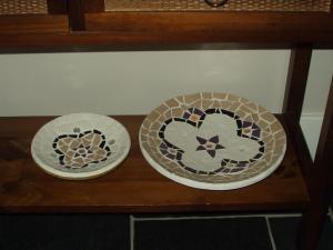 mozaiek 2 schalen kleingroot
